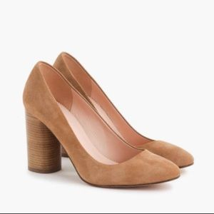 J. Crew Women's Tan Stacked Size 8 Suede Shoes